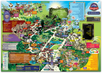 Alton Towers Map