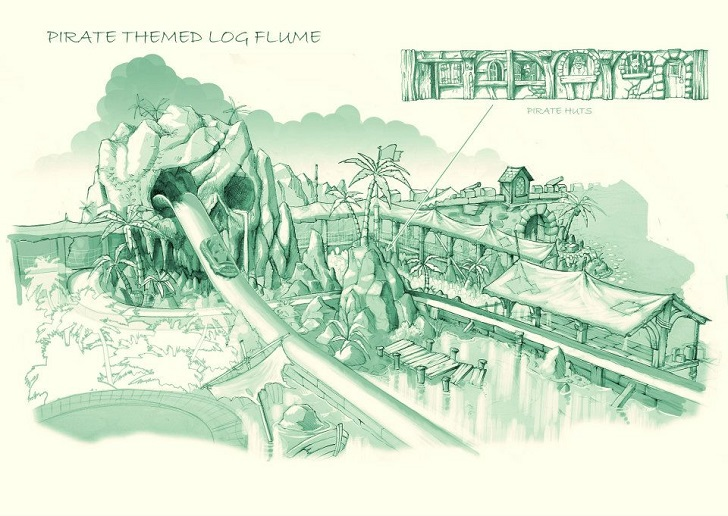 Piate Themed Log Flume