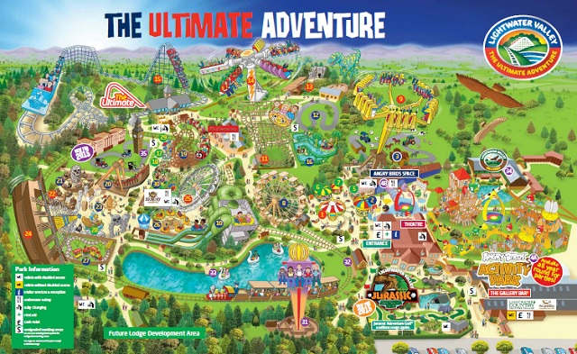 Lightwater Valley Map